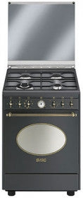 Smeg CO68GMA8 - Cucina Coloniale antracite, 4 fuochi, 60x60 cm