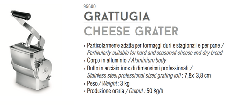 Tre Spade TOOLLIO cheese grater tool - Accessorio grattugia, PRODOTTO IN ITALIA