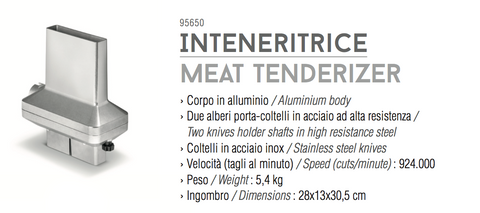 Tre Spade TOOLLIO meat tenderizer tool - Accessorio inteneritrice, PRODOTTO IN ITALIA