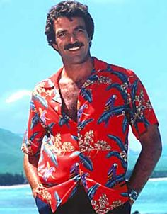 Tom Selleck Hawaiin shirt picture
