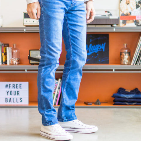 Comfortable men's jeans by Mugsy Jeans