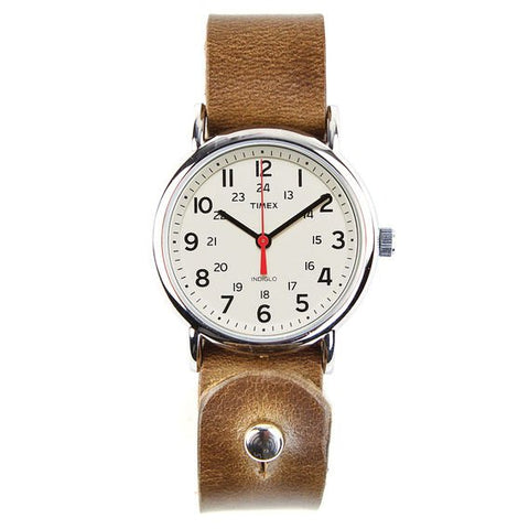 Timex Weekender Watch with Horween Leather Band