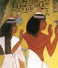 Egyptian hieroglyphics depicting hat trends