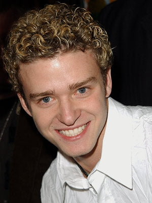 Justin Timberlake frosted tips closeup picture