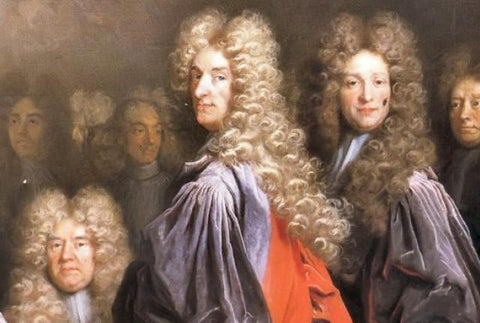 Powdered wigs historical fashion trend