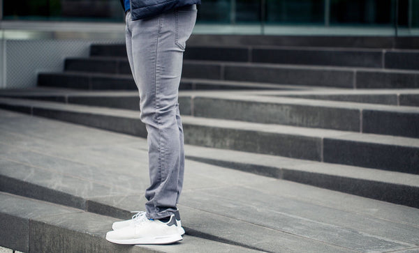 Men's Gray Athletic Jeans