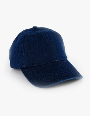 DARK WASH DENIM BASEBALL HAT