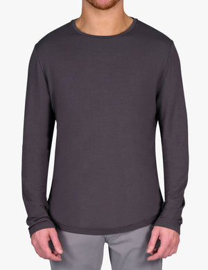 GUNMETAL CASHMERE LONG SLEEVE