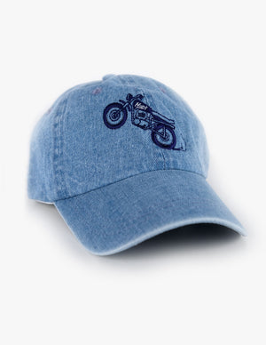LIGHT WASH BIKE HAT