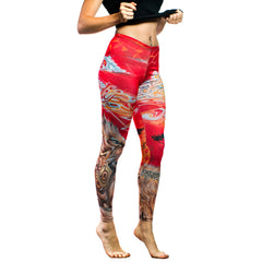 Sunset Safari Sublimation Leggings by The Welch Brothers