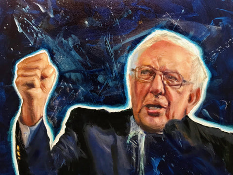 Bernie Sanders Painting raffle ticket