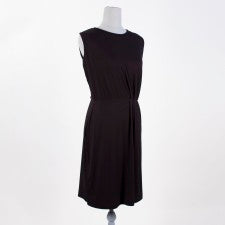 Pleated Waist Dress in Black