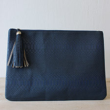 Navy Erin Clutch
