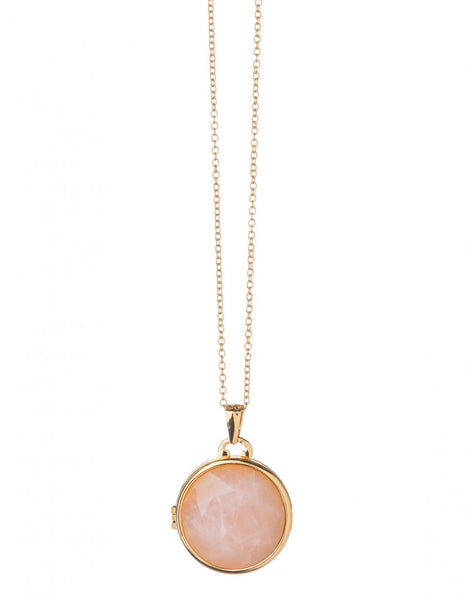 Blush Round Locket