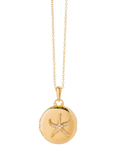 Gold Starfish Locket