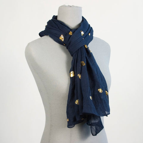 Blue Football Scarf
