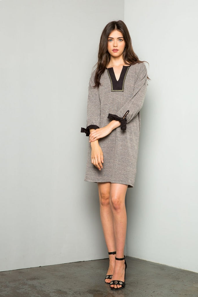 Sleeve Tie Dress