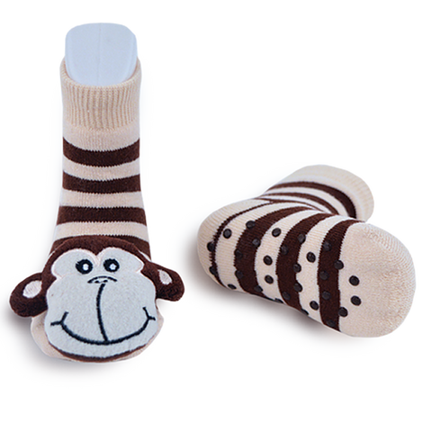 Monkey Rattle Socks 1-2 Years