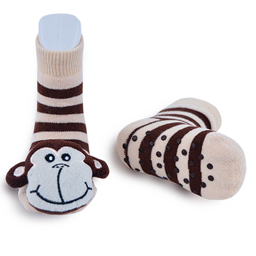 Monkey Rattle Socks 0-1 Years