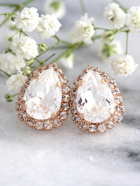 Emma Clear Crystal Swarovski Stud Earrings