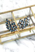 Makini Blue Navy Crystal Swarovski Climbing Earrings