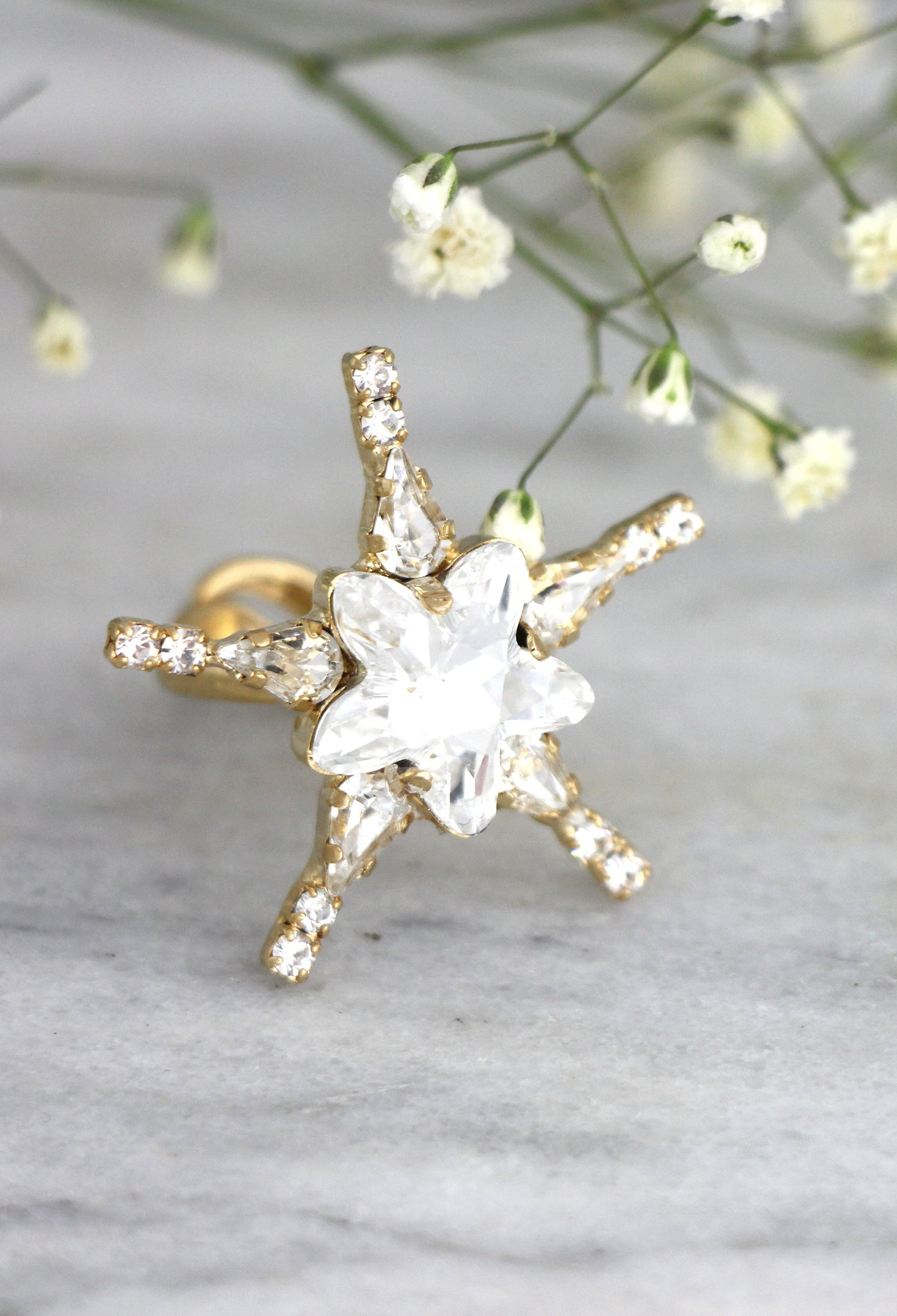 Starlet Clear Crystal Swarovski Bridal Ring