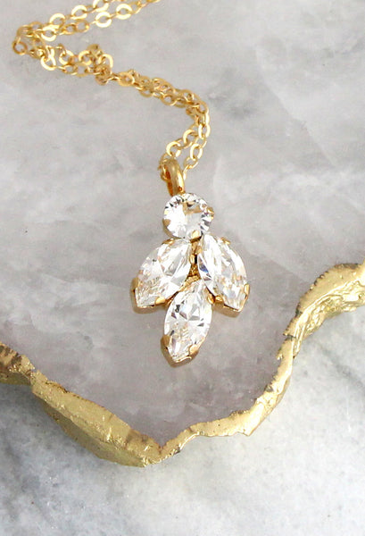 Juliet Clear Crystal Swarovski Necklace