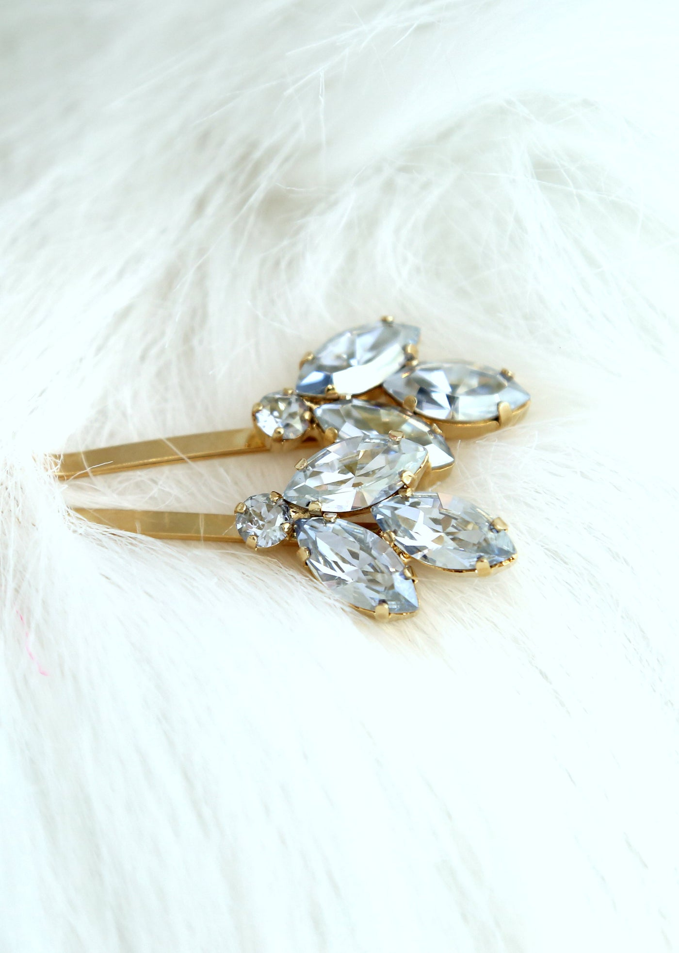 Juliet Dusty Blue Crystal Swarovski Bobby Pins