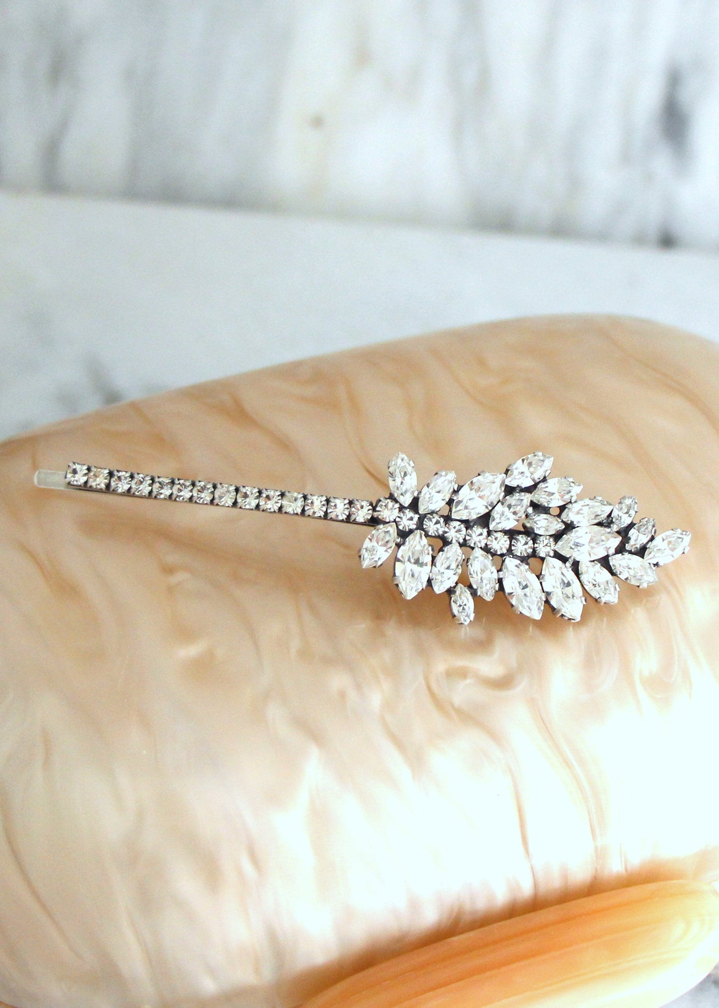 Lucille Clear Crystal Swarovski Bobby Pins