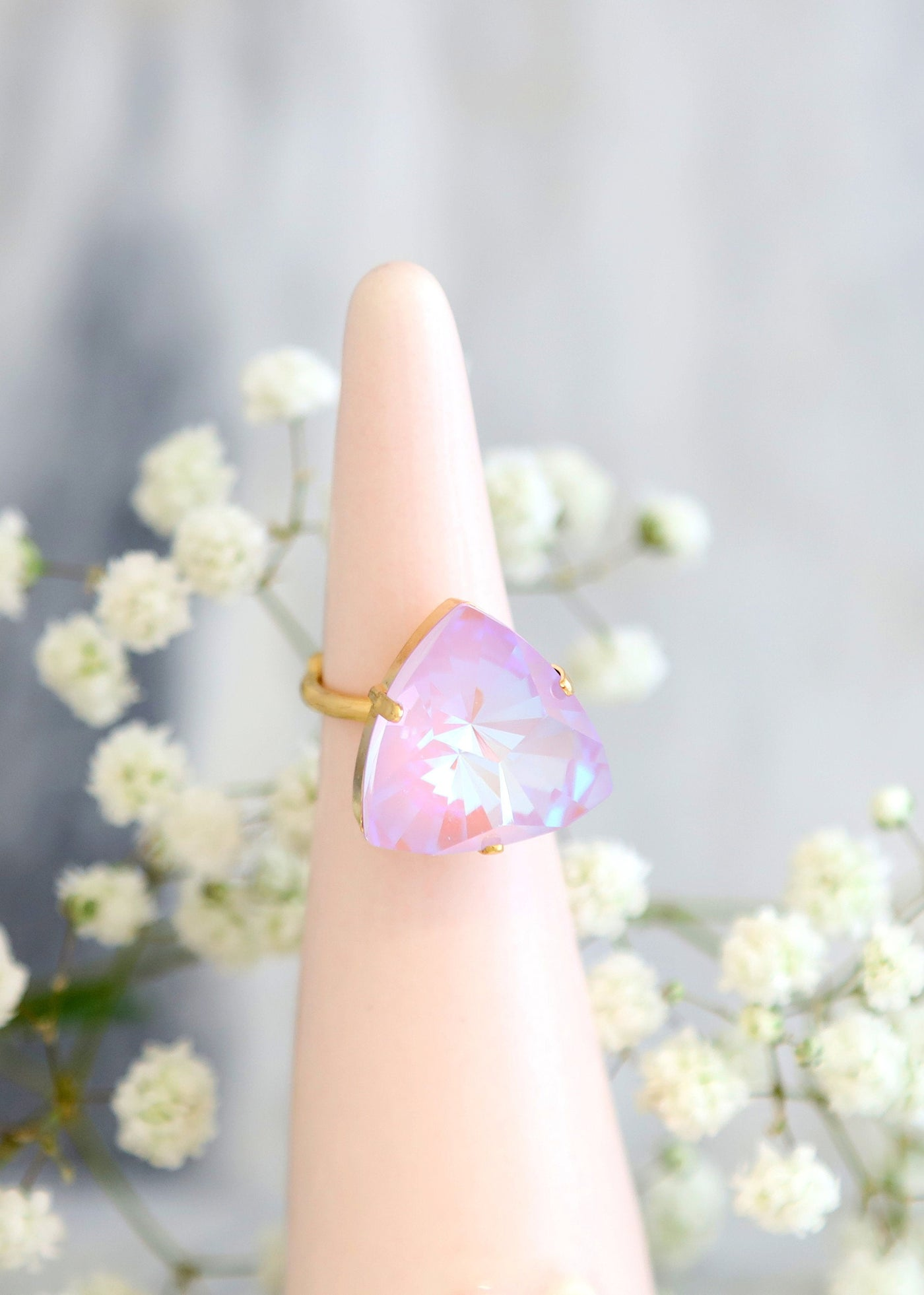 Noa Light Purple Crystal Swarovski Cocktail Ring