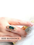 Adi Emerald Clear Crystal Swarovski Cocktail Ring
