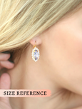 Marquize Sapphire Crystal Swarovski Dangle Drop Earrings