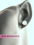 Jenny Aquamarine Crystal Swarovski Stud Earrings