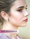 Lizy White Opal Crystal Swarovski Cluster Earrings