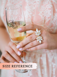 Bell Clear Crystal Swarovski Bridal Cocktail Ring