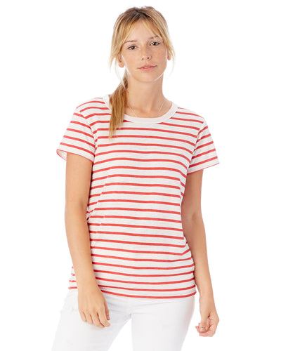 Navy Circle Ohio Women's Striped Shirt BD - Clothe Ohio - Soft Ohio Shirts