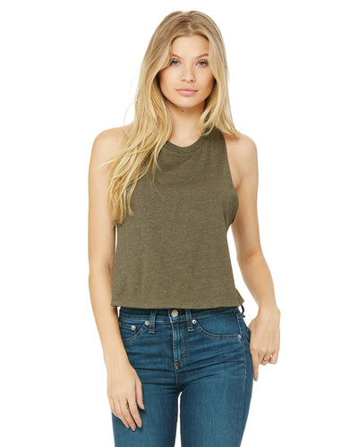 OHIO AGAINST HATE Women's Racerback Cropped Tank - Clothe Ohio - Soft Ohio Shirts