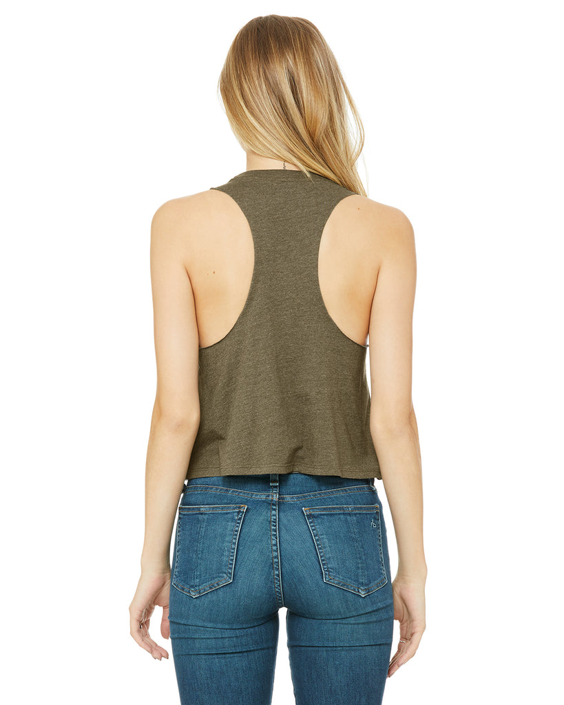 Ohio Midwest Is Best Women's Racerback Cropped Tank