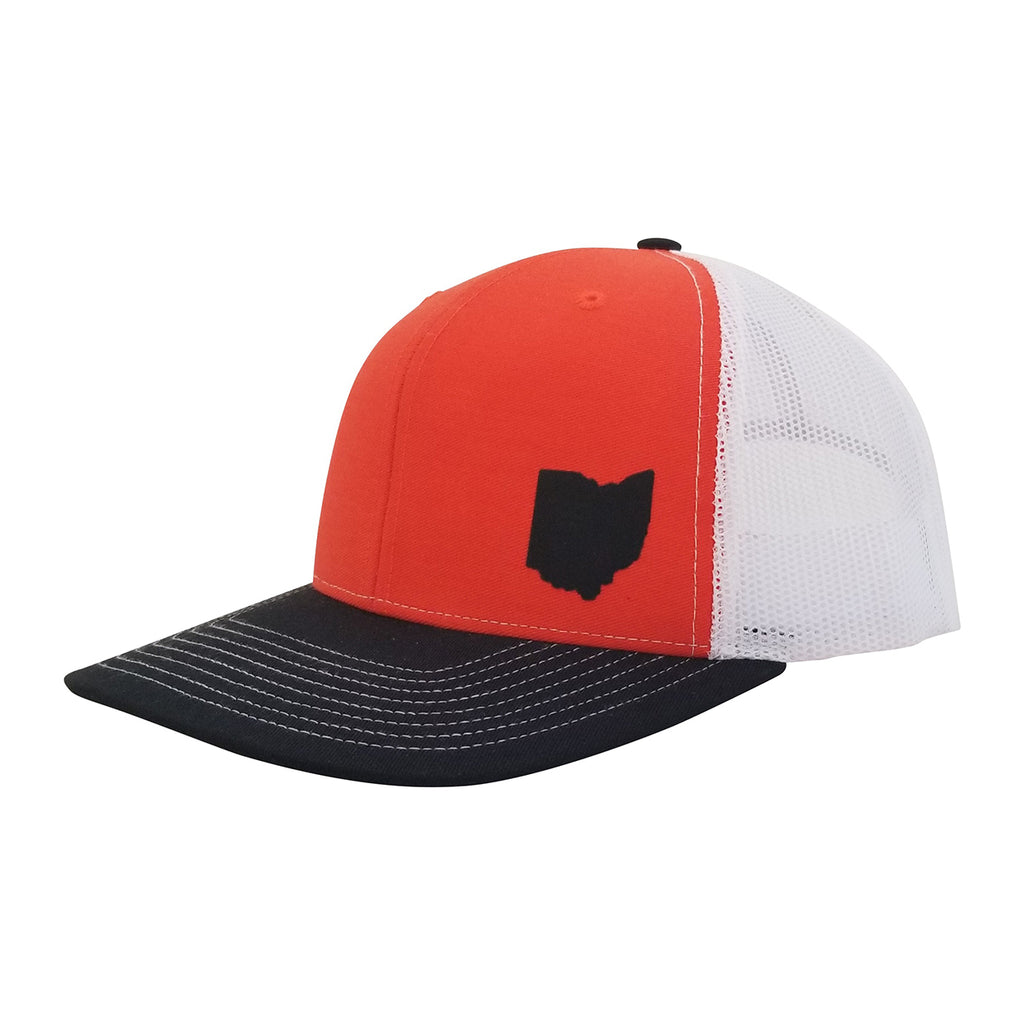 Small Ohio Patch Snap back mesh flat bill Hat
