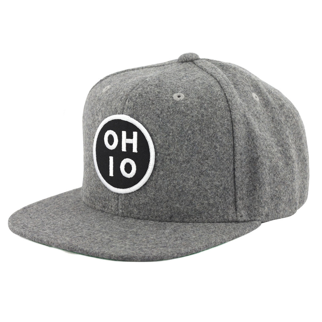 Circle Ohio Patch Flannel Snap Back Hat - Clothe Ohio - Soft Ohio Shirts