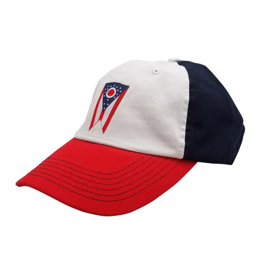 Ohio Flag Patch Dad Hat - Clothe Ohio - Soft Ohio Shirts