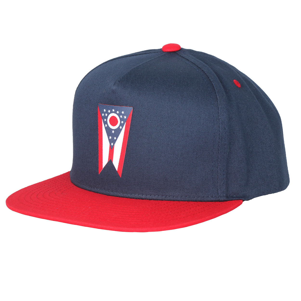Ohio Flag Patch Snap Back Hat - Clothe Ohio - Soft Ohio Shirts