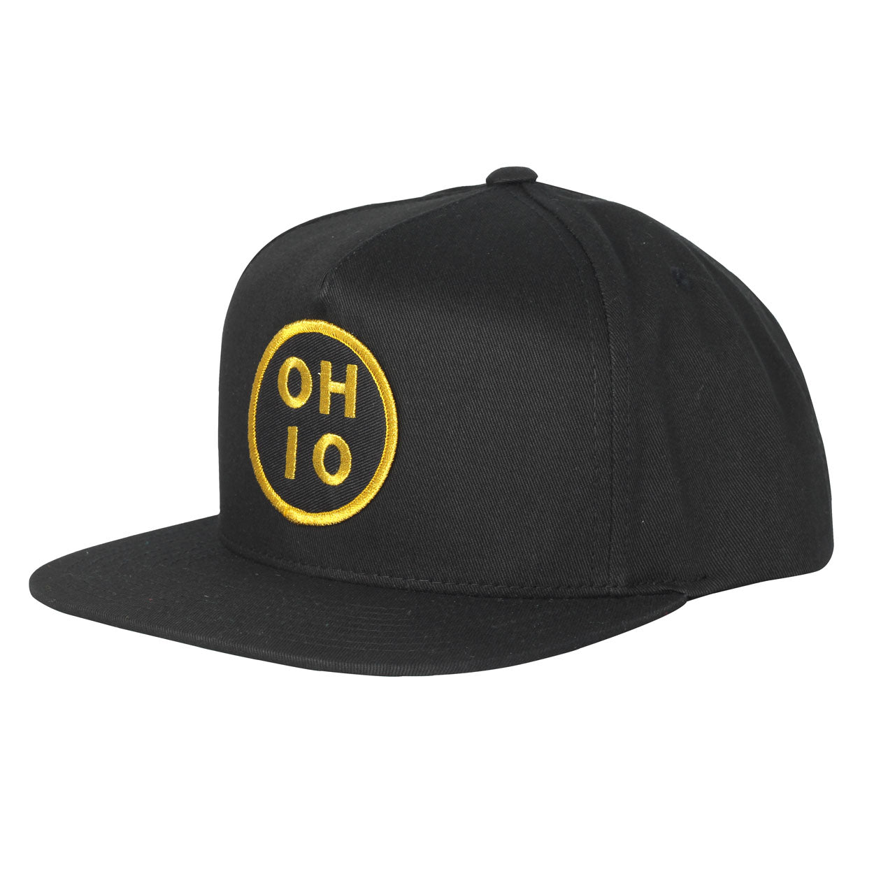 Circle Ohio Gold Patch Snap Back Hat - Clothe Ohio - Soft Ohio Shirts