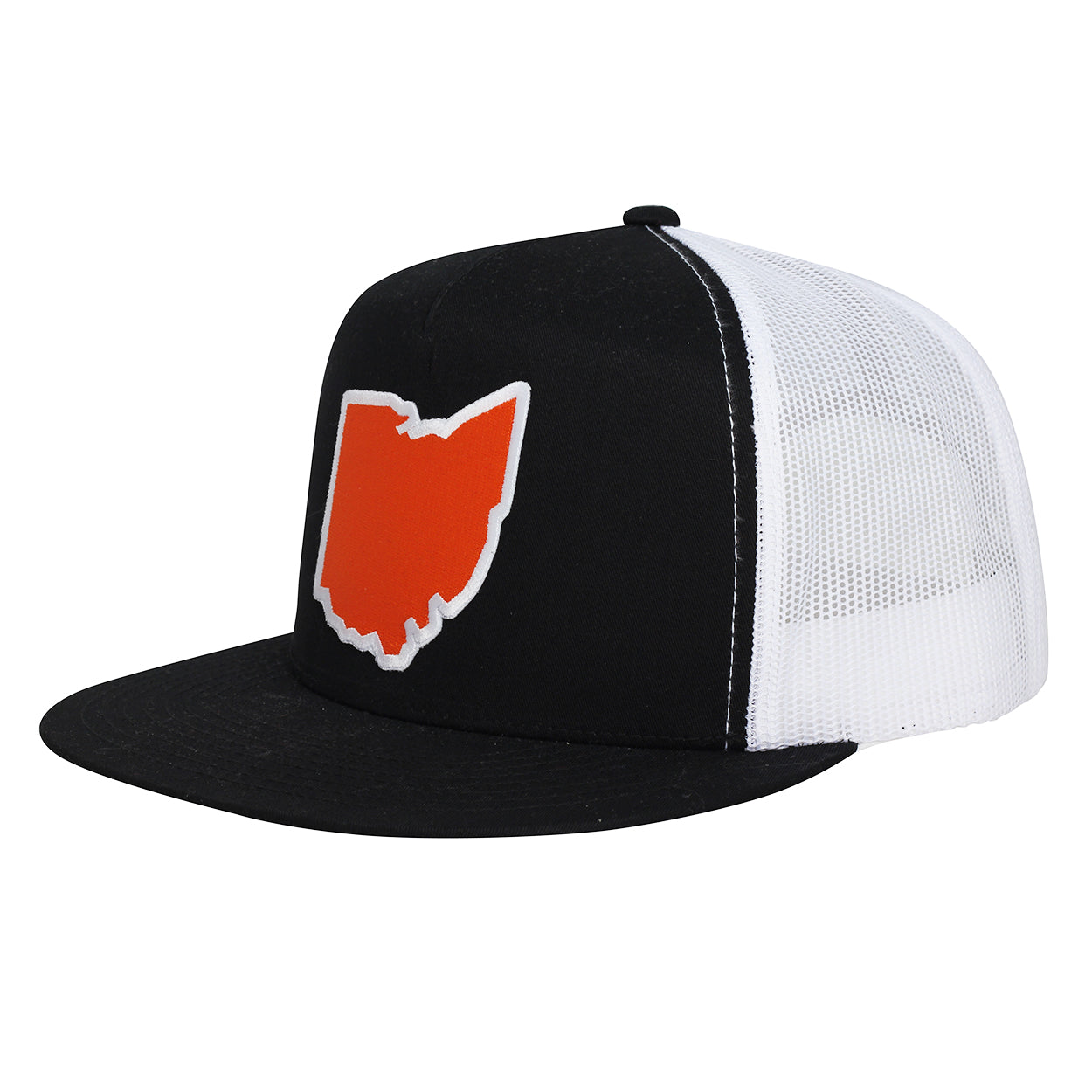 Ohio Orange Patch Wool Snap back Trucker Hat