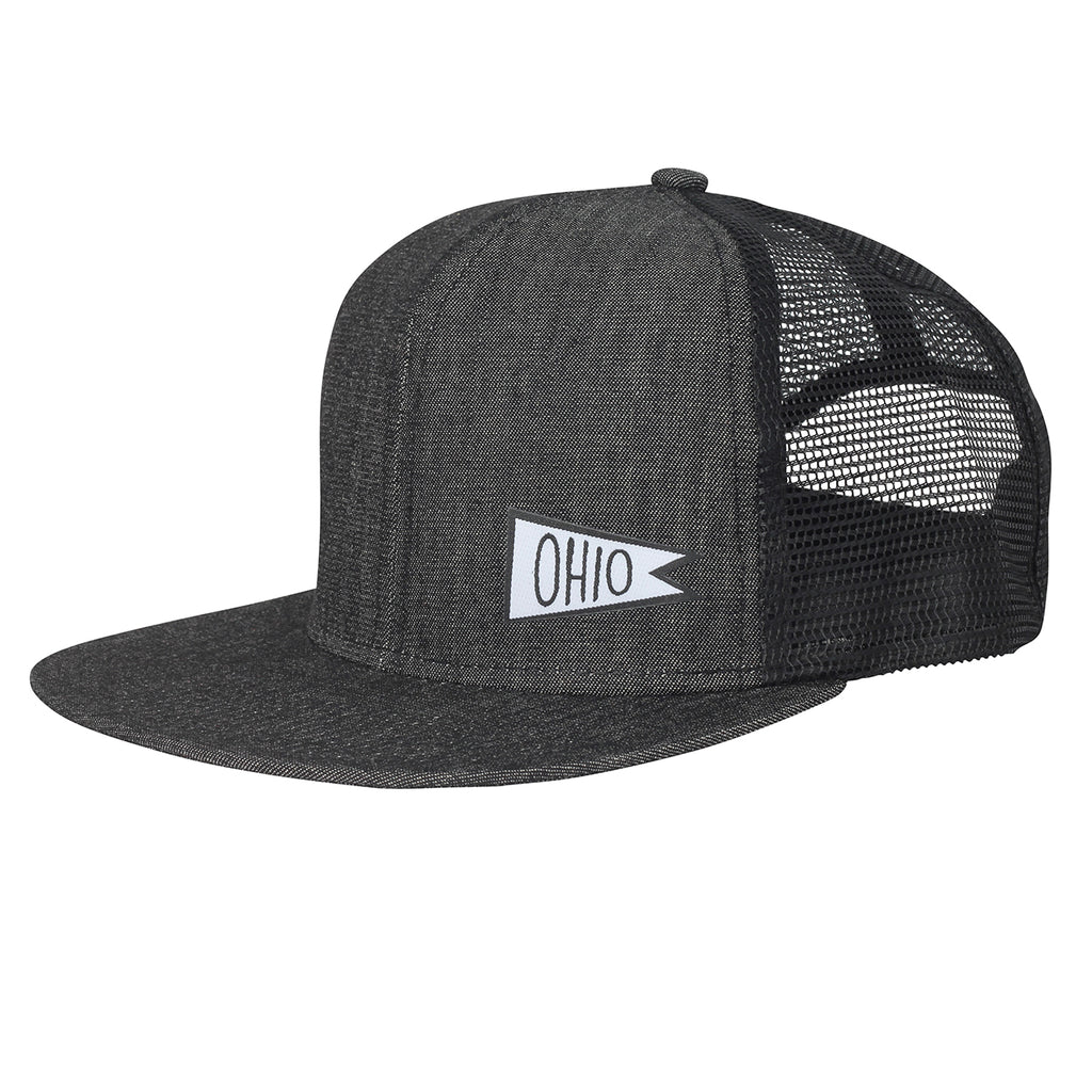 Ohio Sports Flag Snap back Trucker Hat