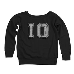 Io Distressed Women's Off-Shoulder Sweatshirt
