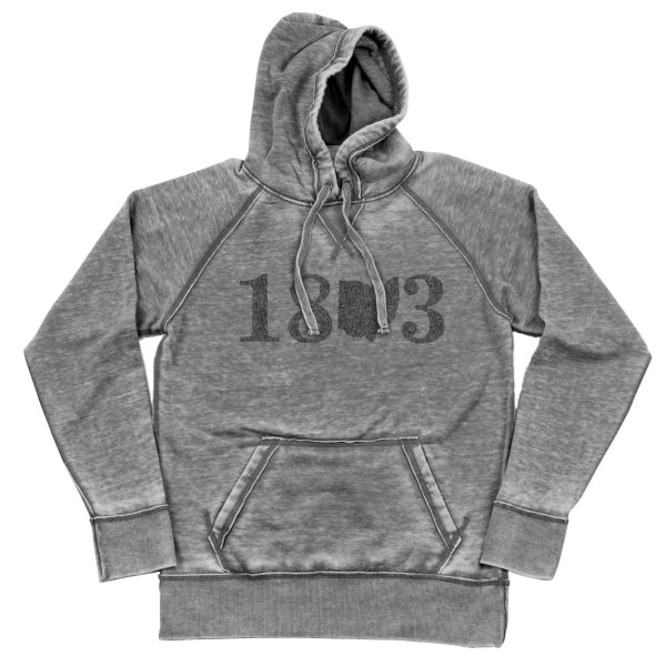 18 Ohio 3 Shredded Hoodie - Clothe Ohio - Soft Ohio Shirts