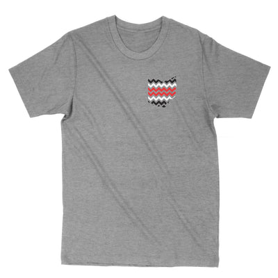 Ohio 3 Stripe Chevron Men's T-Shirt - Clothe Ohio - Soft Ohio Shirts
