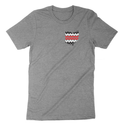 Ohio 3 Stripe Chevron Youth T-Shirt - Clothe Ohio - Soft Ohio Shirts