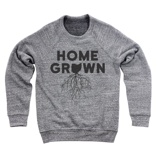 Home Grown Roots Ohio (Black) Men's Ultra Soft Sweatshirt - Clothe Ohio - Soft Ohio Shirts